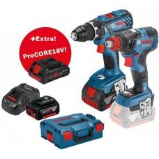Įrankių rinkinys Bosch GSR 18V-28+GDX 18V-200C