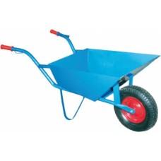 """Karutis statybinis mėlynas 85L, 1 ratas (14"""") pripučiamas su guoliu"""