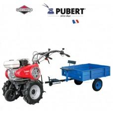 Benzininis motoblokas su priedais Pubert VARIO65BC3+PRIEKABA