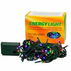 Girlianda LED, spalvota, 230V, su transformatoriumi